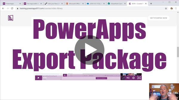 Flow and PowerApps Export Package - Use Export and Import to move a working app