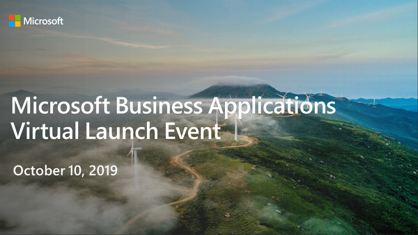 Virtual launch event October 2019 release