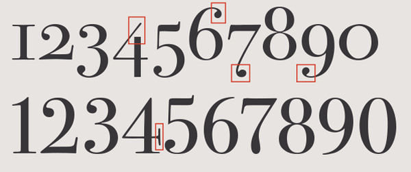 Oldstyle numerals