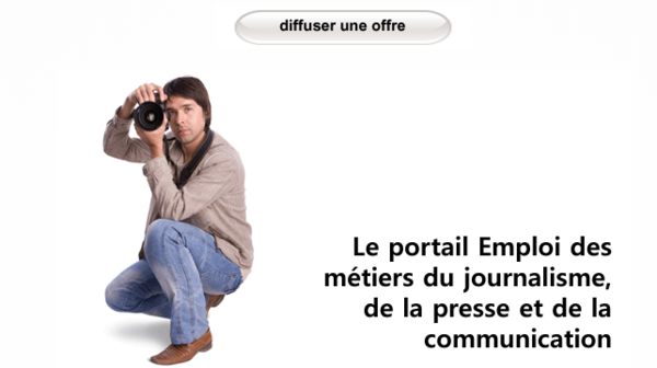 Diffuser une offre d'emploi ou de stage sur le portail du journalisme