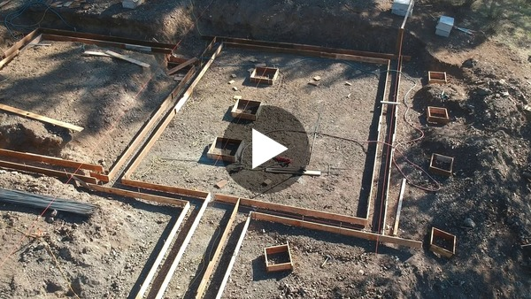 Drone Footage of the House's Foundation