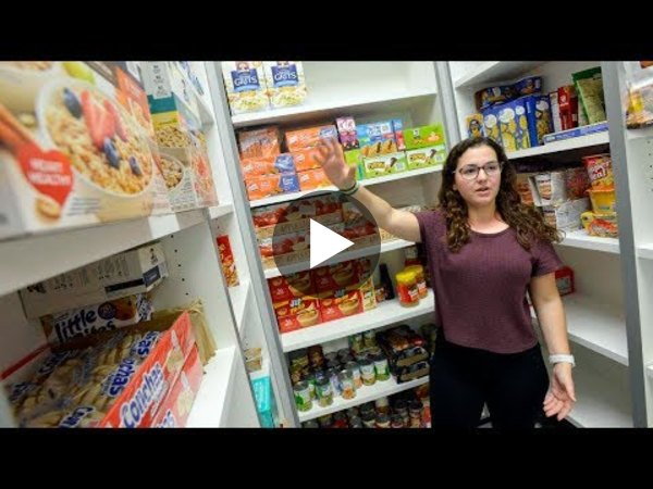 High school senior creates food bank at her school