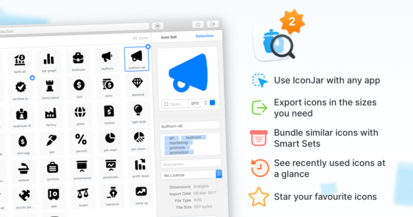 IconJar v2 — All Your Icons In One Place