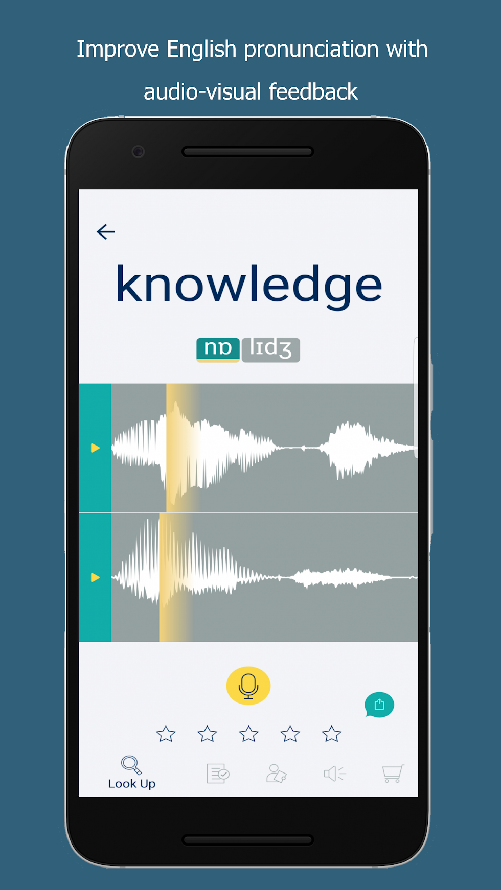 Audio-visual feedback for word pronunciation