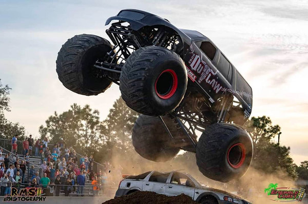 The 'Monster Truck Showdown' is back on the Gulf Coast