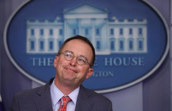 Trumps chef-staf Mick Mulvaney (foto: Reuters)