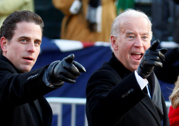 Hunter en Joe Biden (foto: Reuters)