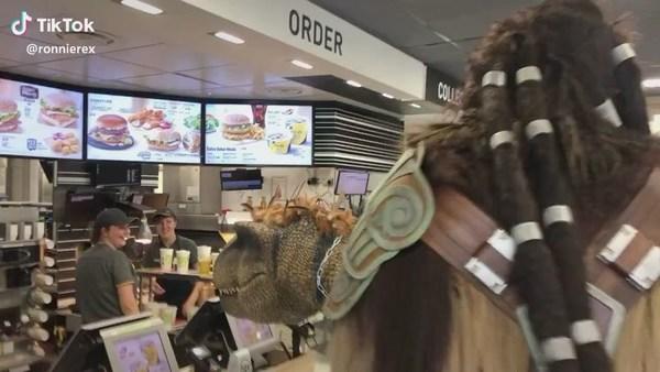 🦖 at McDonald's!