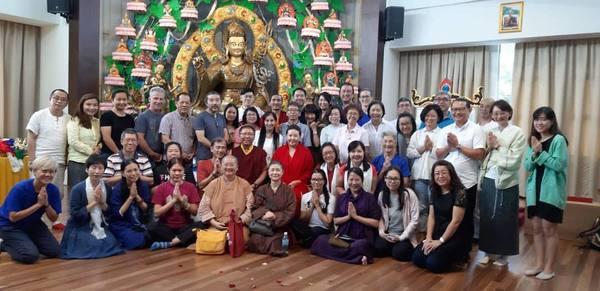 Tsoknyi Rinpoche Visiting Guru Rinpoche Lhakang, Malaysia
