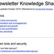 Newsletter knowledge sharing
