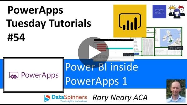 PowerApps #54 Power BI inside your Apps