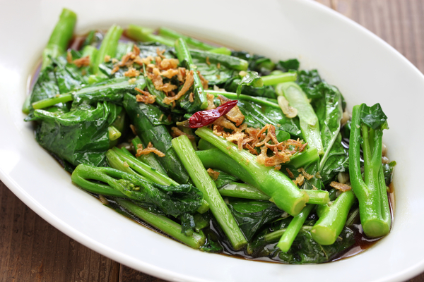 Chinese broccoli met oestersaus.