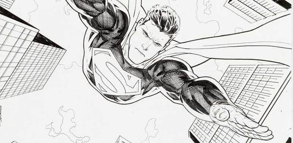 Ryan Sook - Superman Original Cover Art
