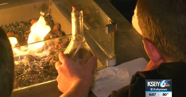 Central Coast visitors find a message in a bottle
