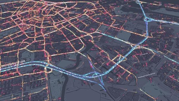Visualising Amsterdam's heartbeat