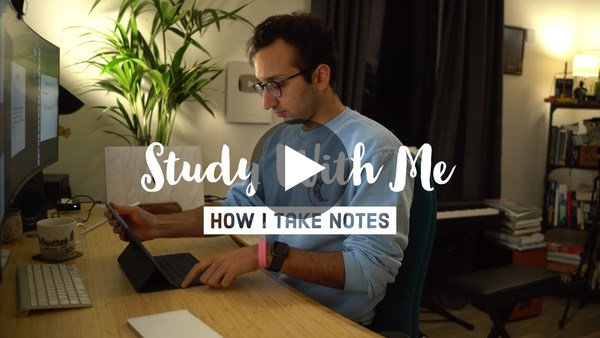 Study with Me + How I take Notes