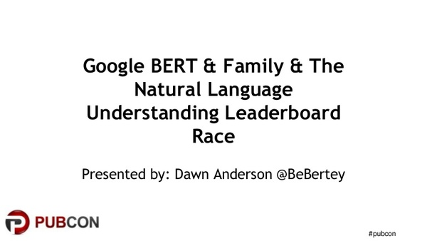 Google BERT and Family and the Natural Language Understanding Leaderboard Race