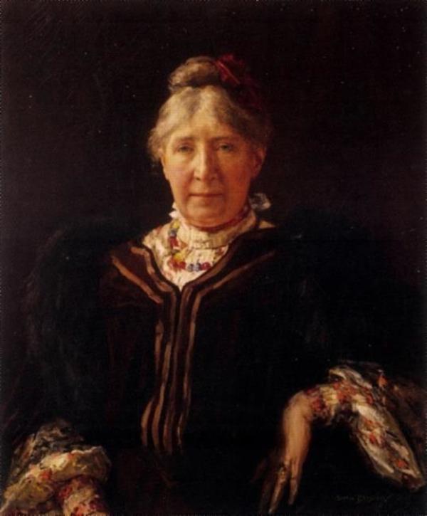 'Portret van Arina Hugenholz' 1905 - olieverf op doek: Martin Borgord