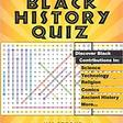 Black History Quiz: A Word Find Puzzle Book of Black History Facts