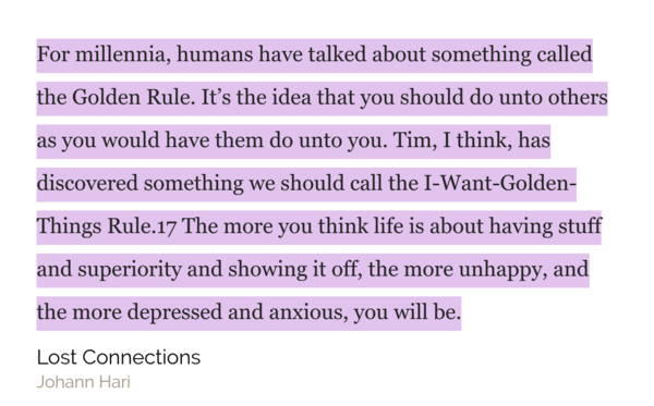 'The Golden Rule'   vs.  'The I-Want-Golden-Things Rule'