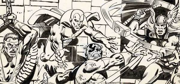 Al Milgrom - Captain America Original Cover Art