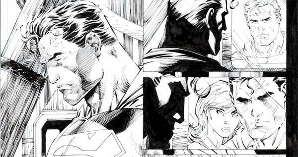 Jim Lee - Superman Original Comic Art