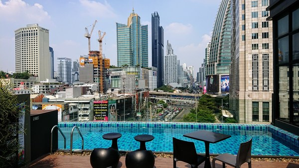 View from my hotel at my last trips to Bangkok. Picture: Berg Moe