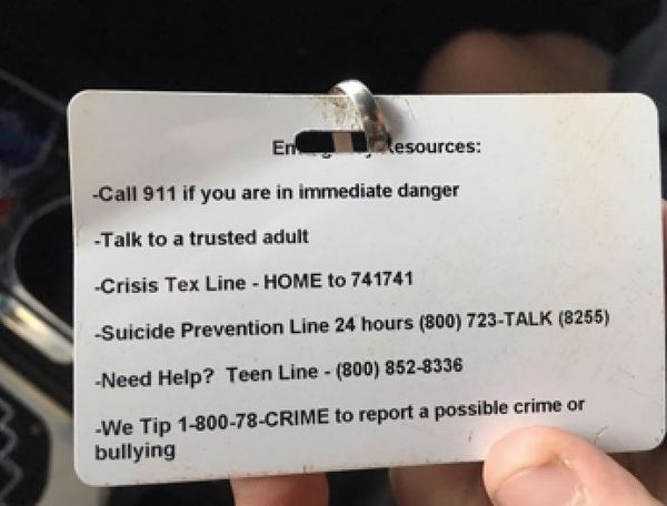 Phone Sex Line Number Printed As Suicide Hotline On Middle School Student ID Cards – CBS Los Angeles