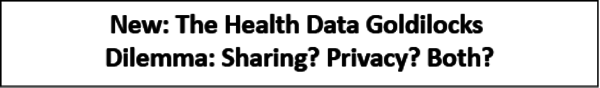In this series, Vince Kuraitis and Deven McGraw write about health data privacy & policy, and the legislation that impacts it