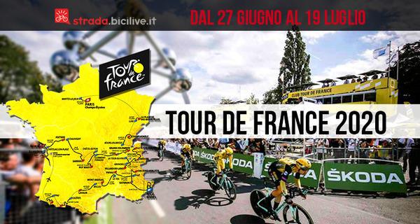 Tour de France 2020: edizione 107 dal 27 giugno al 19 luglio
