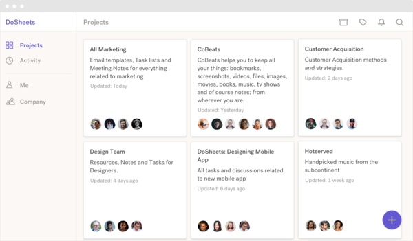 DoSheets: Building blocks for your business