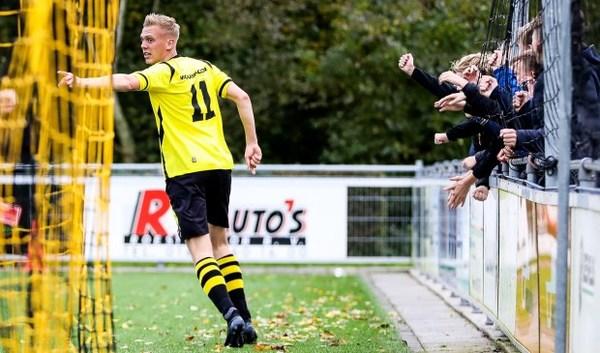 Geelzwarte derby tussen Groot-Ammers en SV Meerkerk krijgt geen winnaar