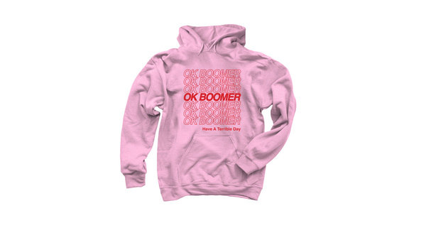 Shannon O'Connor's OK BOOMER hoodie - Credit: Shannon O'Connor