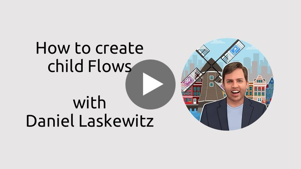 How to create child Flows in Microsoft Flow?