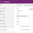 Using PowerApps Environment Variables