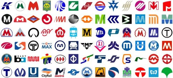 Alle logo's van metro's wereldwijd