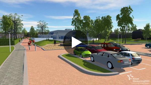 """IKC """"de Lei"""" in Leimuiden 3D impressie nieuwe infrastructuur (video)"""
