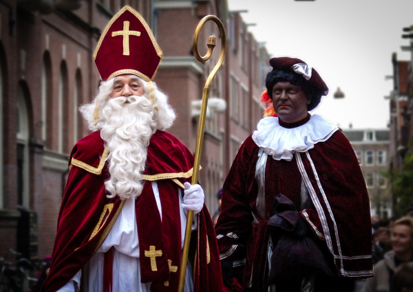 "Sinterklaas and a ""friend."""