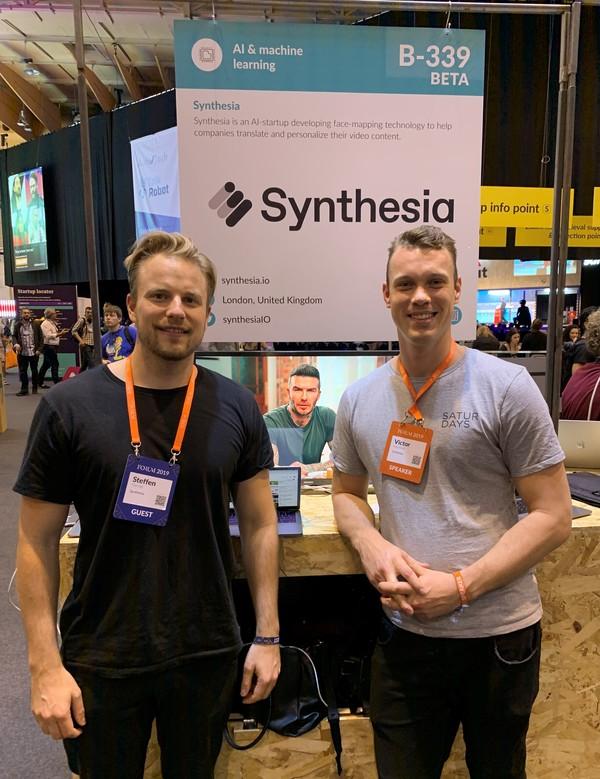 Steffen Tjerrild-Hansen og Victor Riparbelli fra Synthesia.io