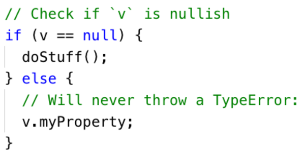 If a value is not nullish, you can safely access its properties