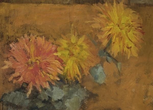 Piet Mondriaan (1872-1944) , Drie chrysanten | Christie's
