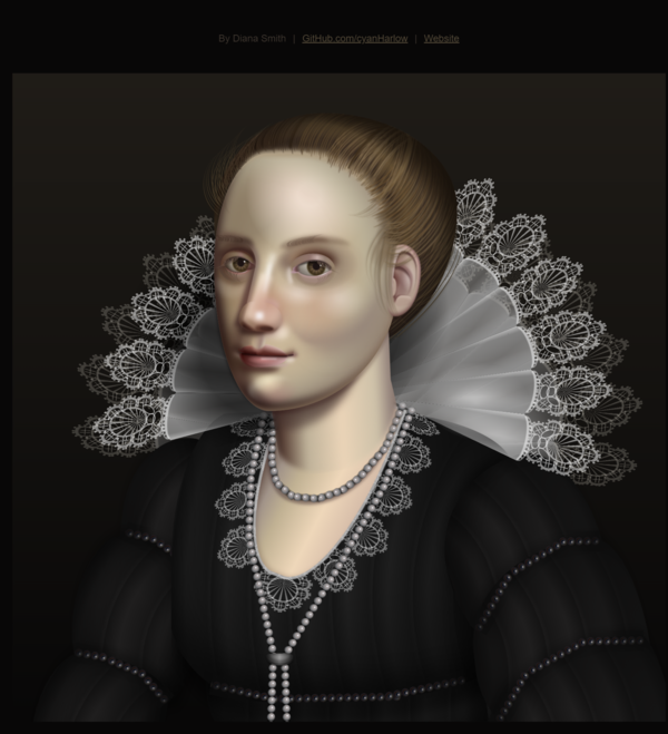 Lace: Pure CSS Oil Painting