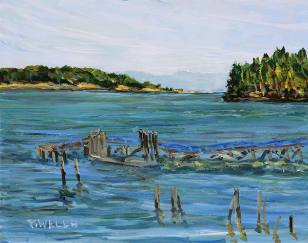 """Miners Bay Mayne Island study"" by Terrill Welch - SOLD"