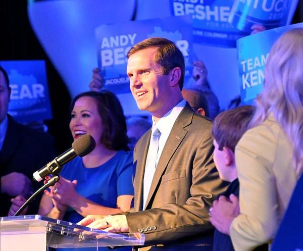 De Democraat Andy Beshear heeft de gouverneursverkiezingen in Kentucky gewonnen (foto: Reuters)