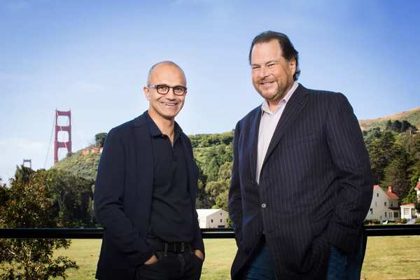 Salesforce will adopt Microsoft's cloud, as the companies cozy up again
