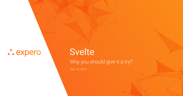 JSDay 2019 slide deck - Why you should try Svelte