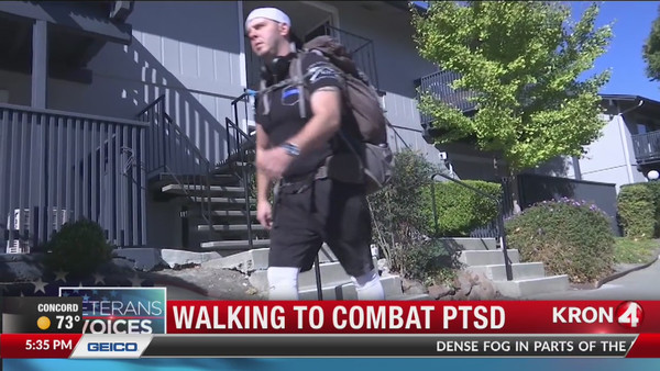 Former Marine to hike 577 miles across California to raise awareness of veteran suicide | KRON4