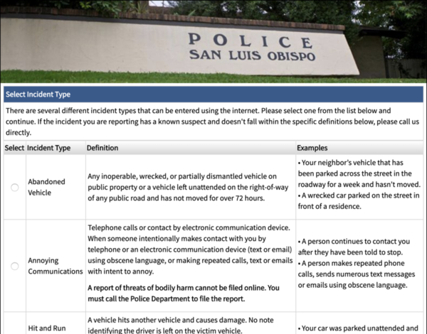 New San Luis Obispo crime reporting tool owned by data broker | KCBX