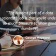 George Hayward: comedian, lawyer and data scientist