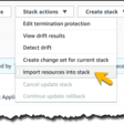 Import Existing Resources into a CloudFormation Stack